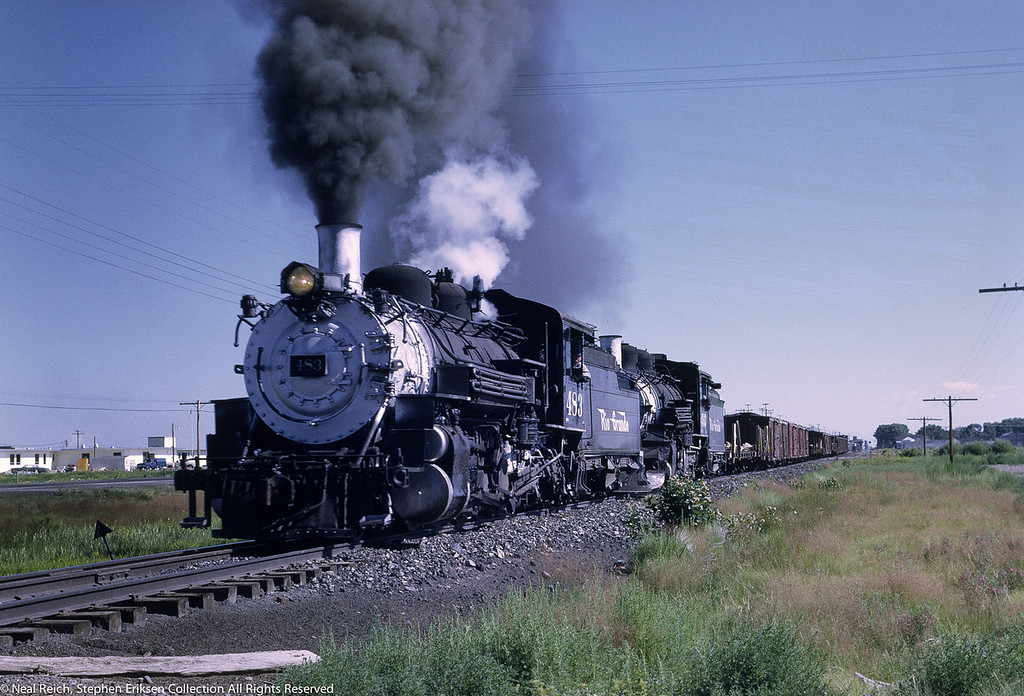 July 17, 1968 #483 and #493 leave La Jara, CO.
