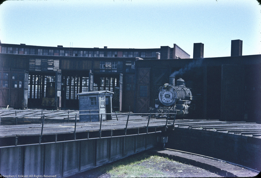 K-37 #491 at Alamosa in the 1950's.