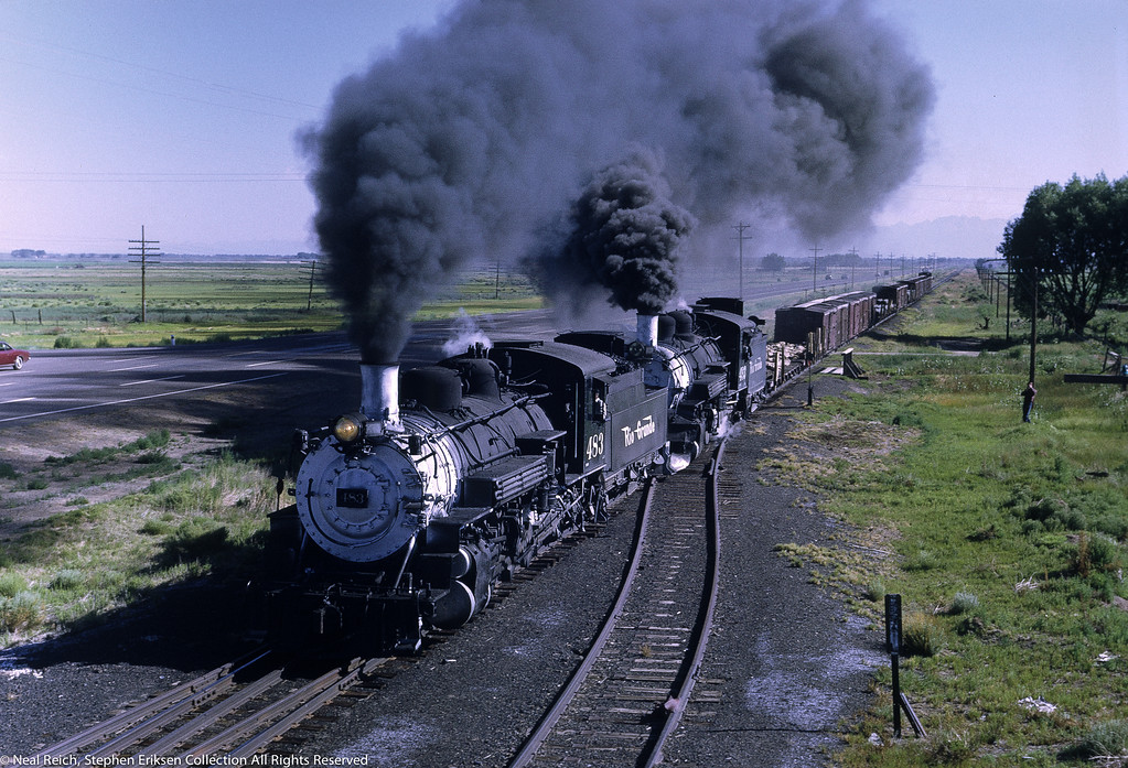 July 17, 1968 #483 and #493 double headed at Henry, CO.