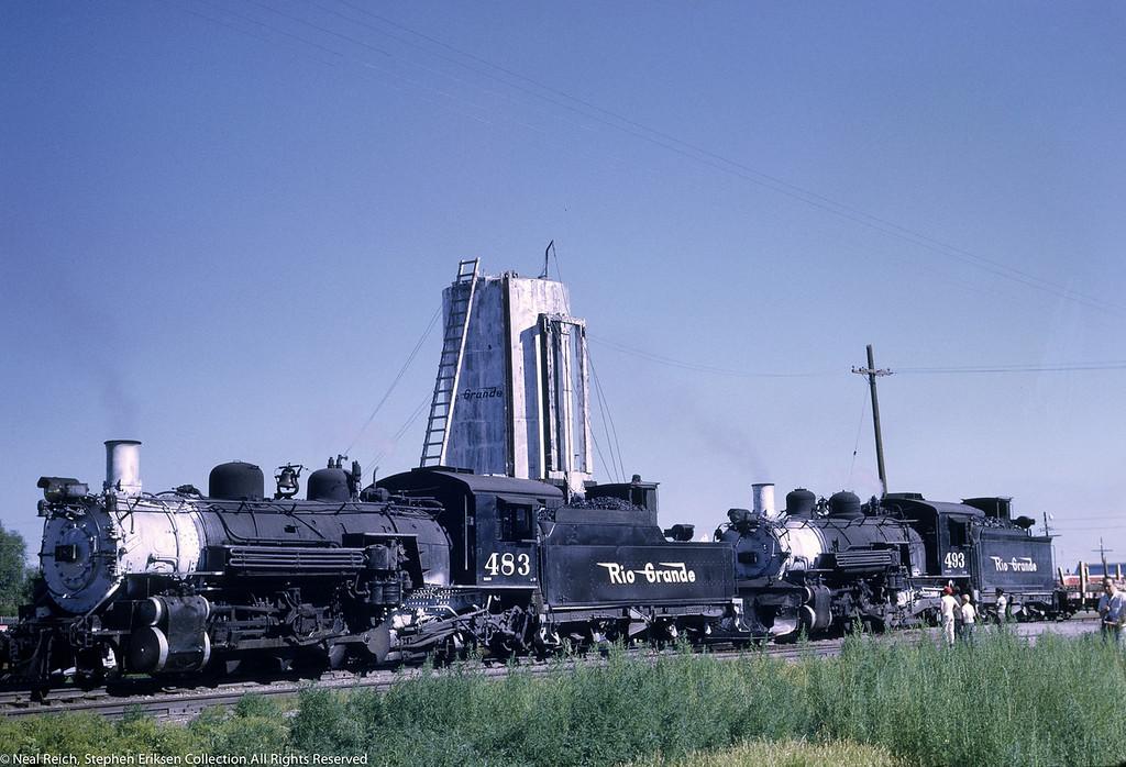 July 17, 1968 #483 and #493 at La Jara, CO.